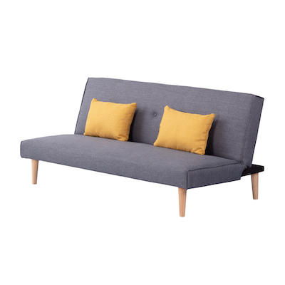 Andre Sofa Bed - Grey with Yellow Cushions - Image 2