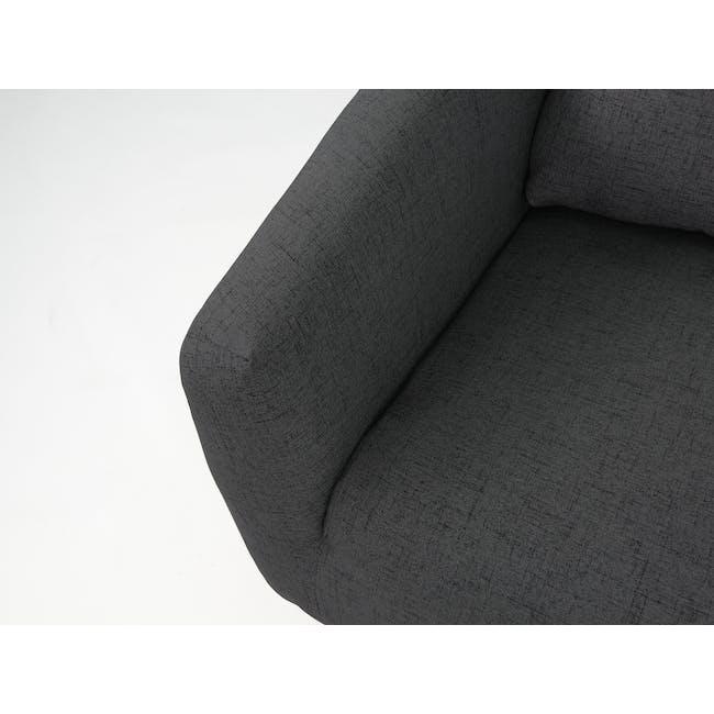 Hana2 Seater Sofa - Charcoal - 6