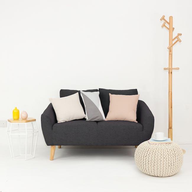 Hana 2 Seater Sofa with Hana Armchair - Charcoal - 12