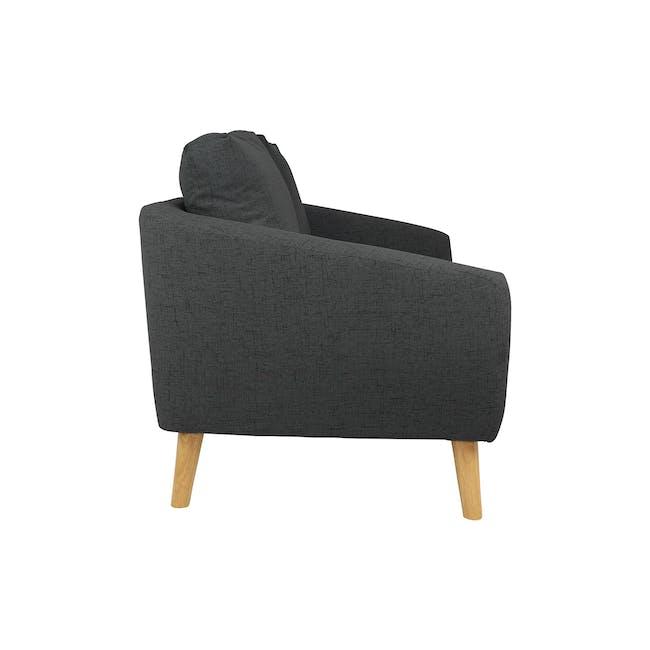 Hana 2 Seater Sofa with Hana Armchair - Charcoal - 15