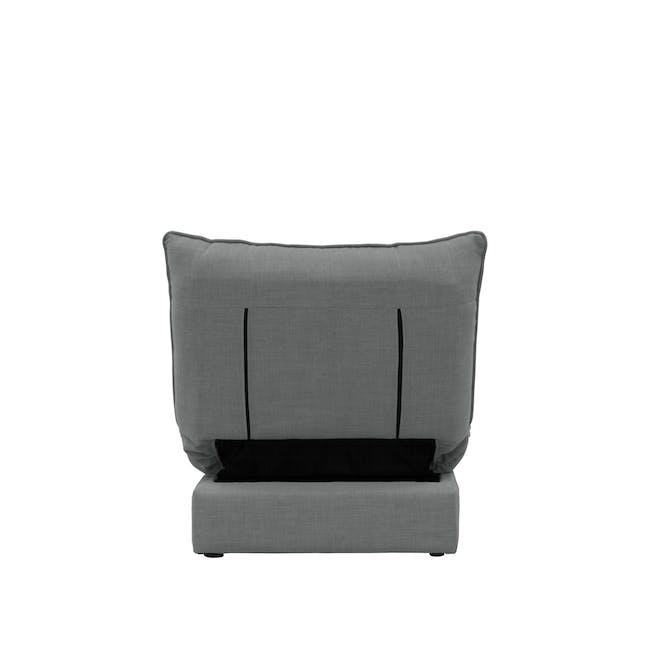 Tessa L-Shaped Storage Sofa Bed - Pigeon Grey - 22