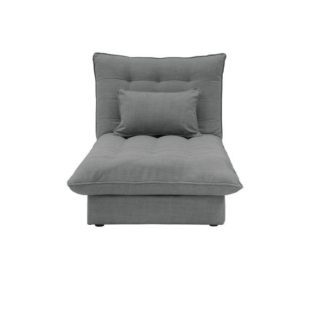 Tessa Storage Lounge Bed - Pigeon Grey - 0