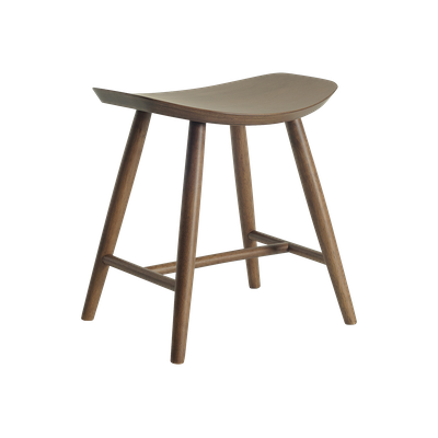 Philana Stool - Walnut Veneer - Image 1