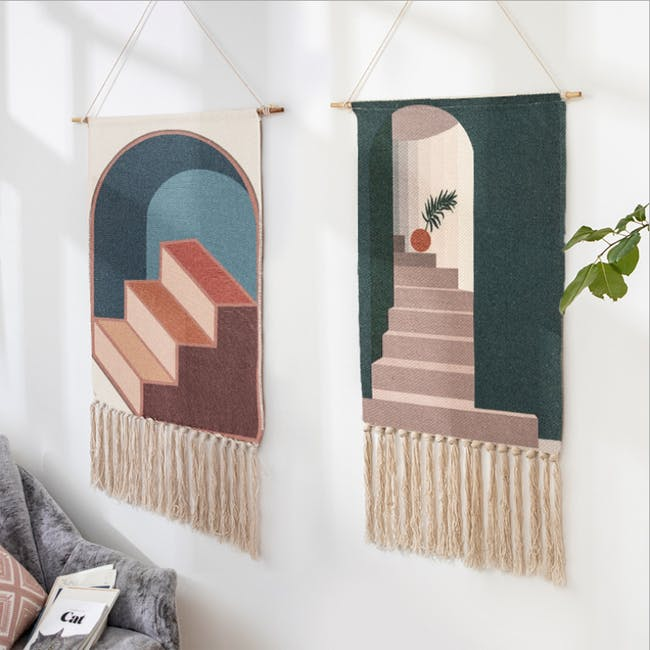Nordic Tapestry with Tassle - 3 Steps Up - 3