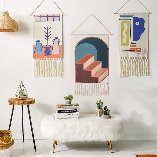 Nordic Tapestry with Tassle - 3 Steps Up - 2