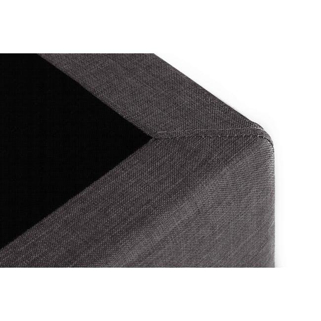 ESSENTIALS Single Divan Bed - Smoke (Fabric) - 5
