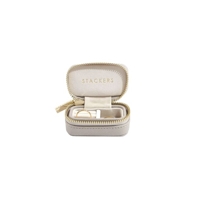 Stackers Petite Travel Jewellery Box - Taupe - 0