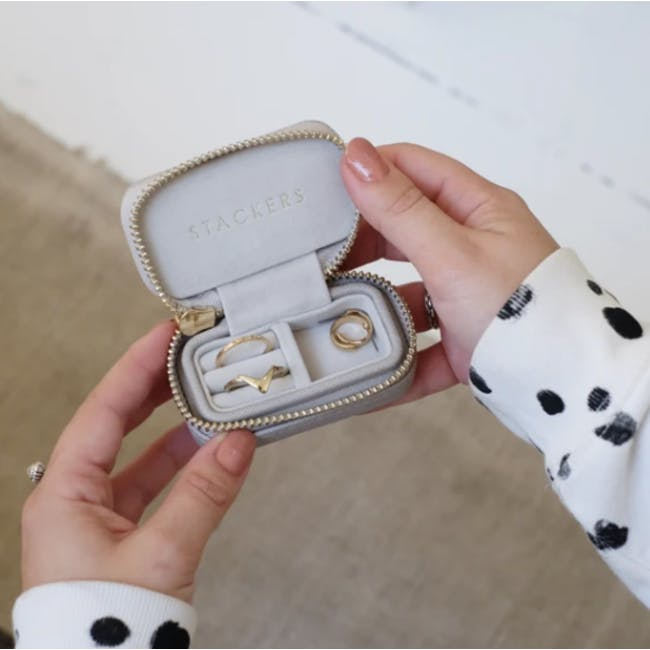 Stackers Petite Travel Jewellery Box - Taupe - 1