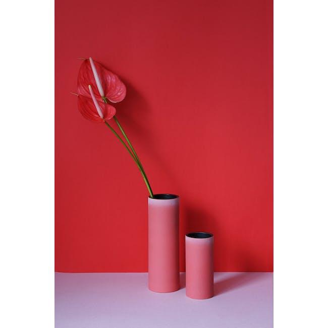 Tubular Short Vase 15 cm - Imperial Red - 3