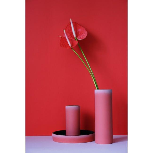 Tubular Short Vase 15 cm - Imperial Red - 2
