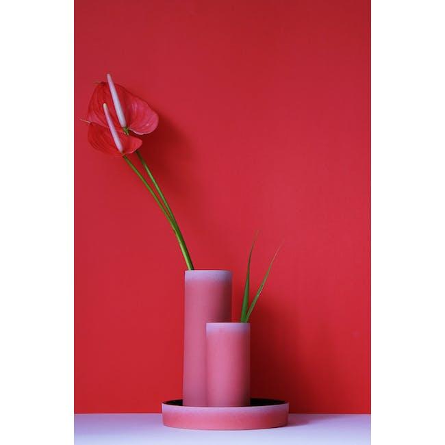 Tubular Short Vase 15 cm - Imperial Red - 1