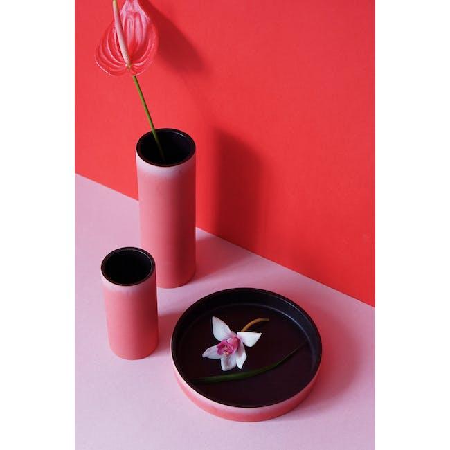 Tubular Short Vase 15 cm - Imperial Red - 4
