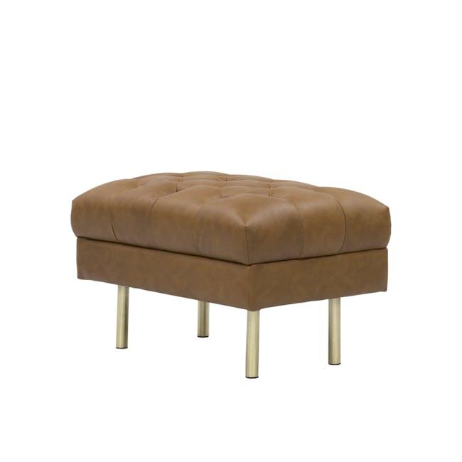 Cadencia Ottoman - Tan (Faux Leather) - 1