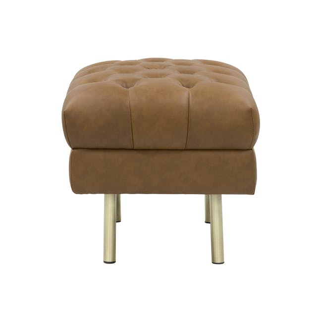 Cadencia Ottoman - Tan (Faux Leather) - 2