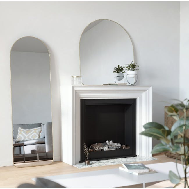 Hubba Arched Leaning Mirror 50 x 157 cm - Brass - 3