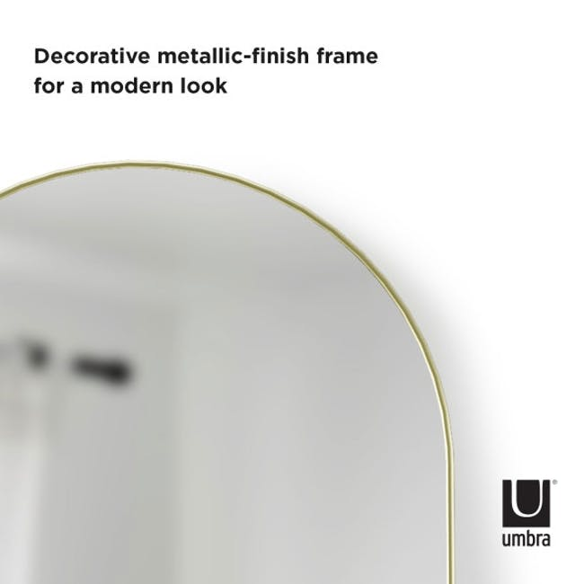 Hubba Arched Leaning Mirror 50 x 157 cm - Brass - 6