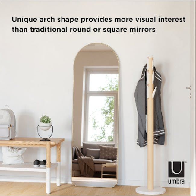 Hubba Arched Leaning Mirror 50 x 157 cm - Brass - 4
