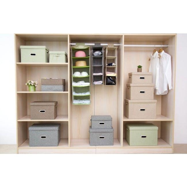 Leonard Fabric Storage Box - Light Grey - Medium - 1