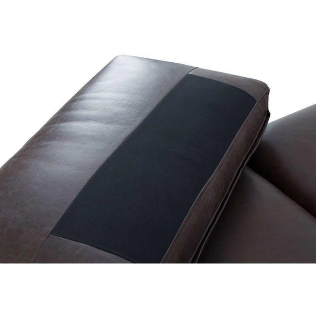 Acadia 3 Seater Sofa - Mocha (Genuine Cowhide) - 5