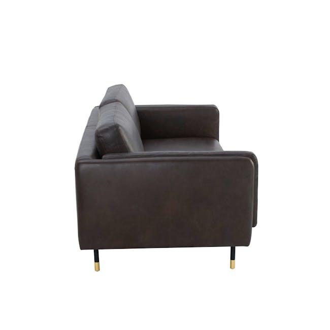 Acadia 3 Seater Sofa - Mocha (Genuine Cowhide) - 3