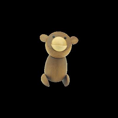 Bonzo the Bonobo - Teak Wood Sculpture (Medium) - Image 2