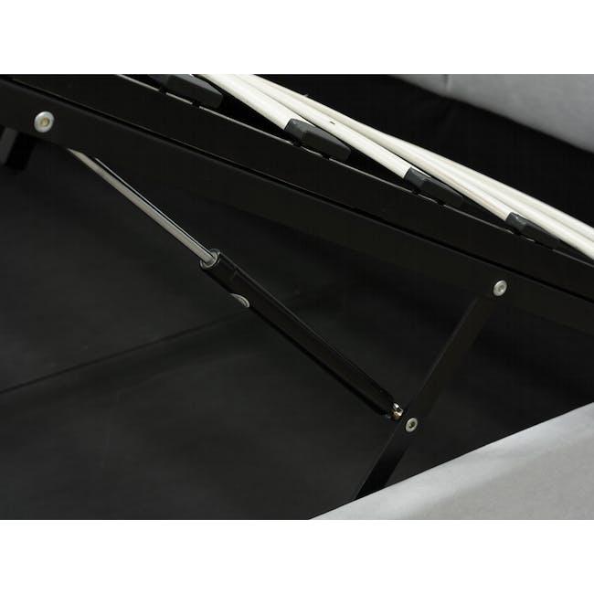 Nolan Single Storage Bed - Hailstorm - 4