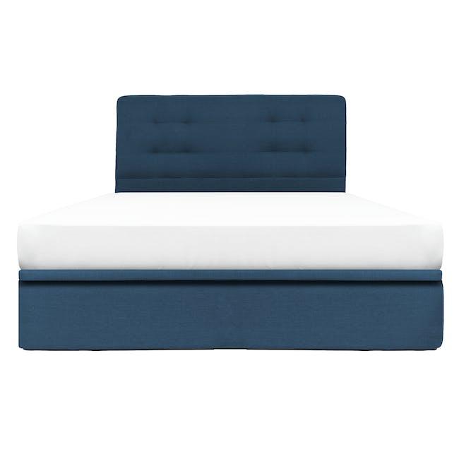 ESSENTIALS Queen Headboard Storage Bed - Denim (Fabric) - 0