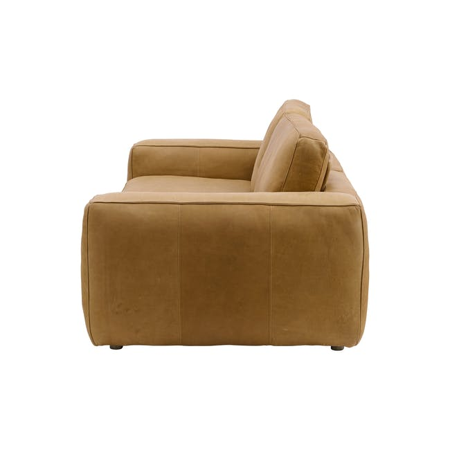 Truffle 3 Seater Sofa - Camel (Hand Tipped Leather) - 2