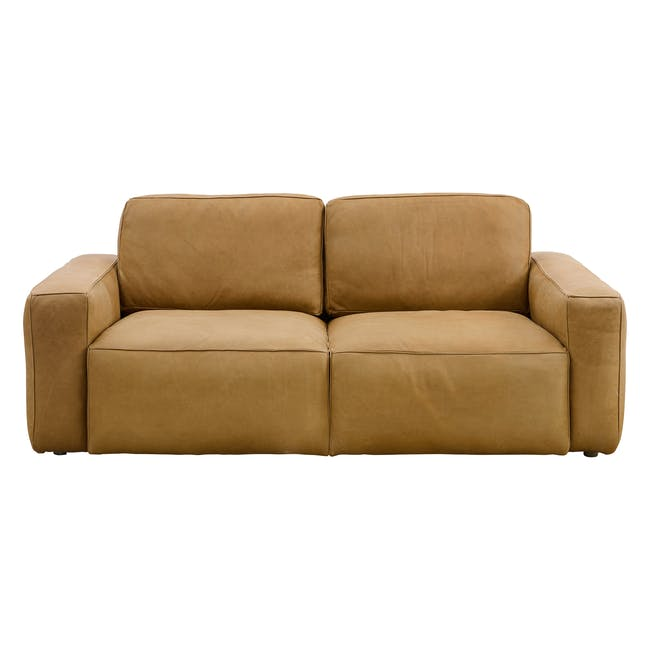 Truffle 3 Seater Sofa - Camel (Hand Tipped Leather) - 0