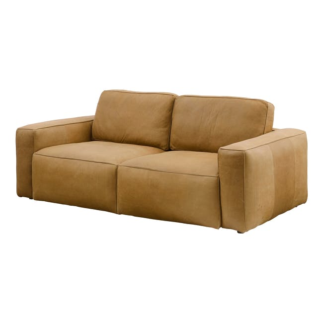 Truffle 3 Seater Sofa - Camel (Hand Tipped Leather) - 1