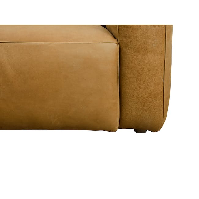 Truffle 3 Seater Sofa - Camel (Hand Tipped Leather) - 5