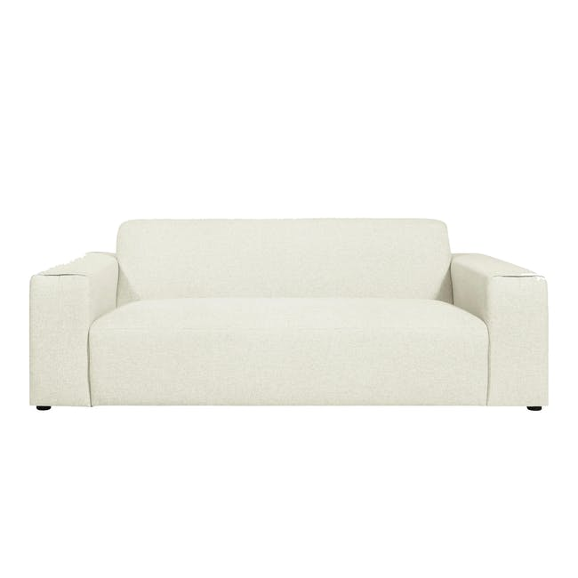 Adam 3 Seater Sofa in Pearl with Veronic in Forest Green - 1