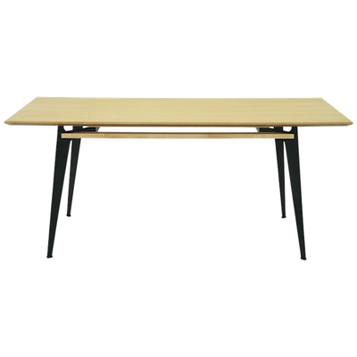 Grover 8 Seater Dining Table - Natural, Black - Image 1