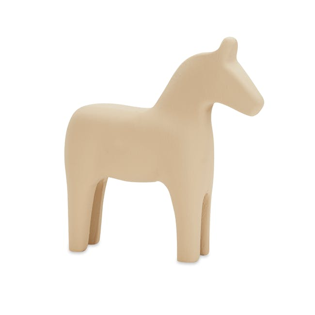 Molly Wooden Horse - Ivory - 0