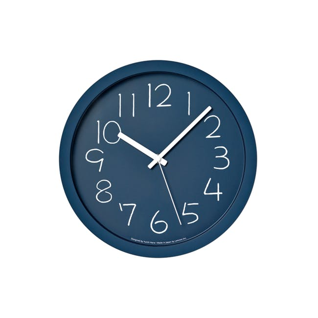 Chalk Clock - Navy - 0