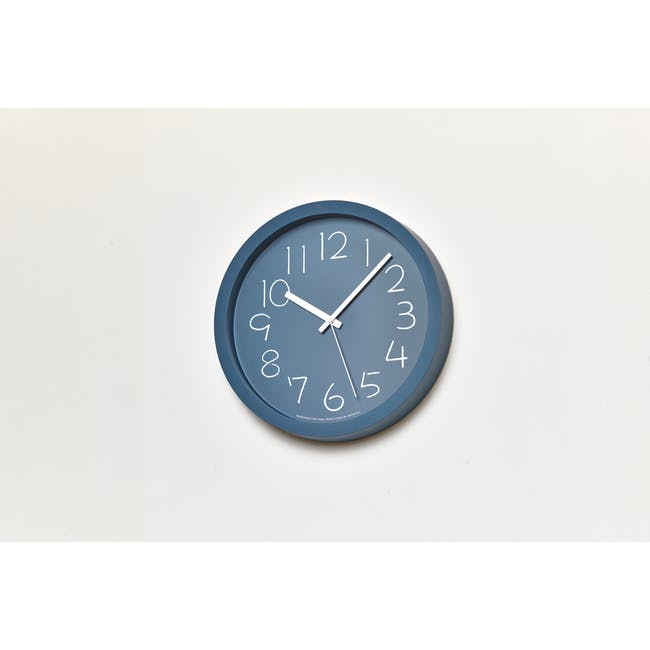 Chalk Clock - Navy - 1