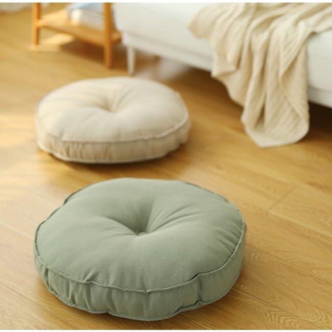 Hanya Round Floor Seat Cushion 60 cm - Sage - 1