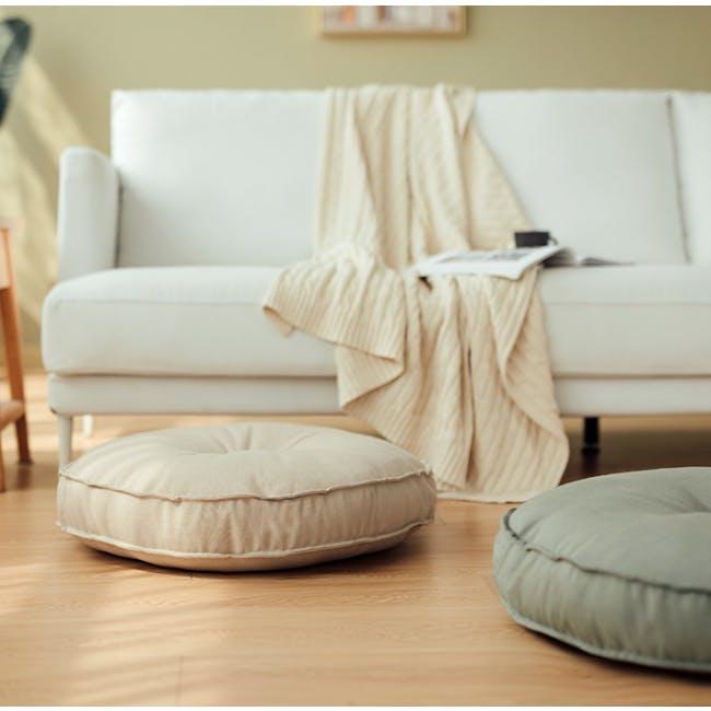 Hanya Round Floor Seat Cushion 60 cm - Sage - 2