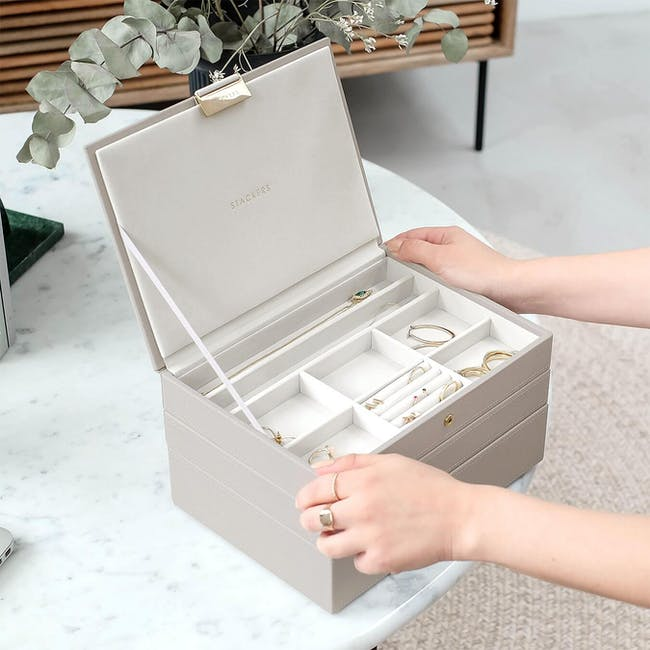 Stackers 3-in-1 Classic Jewellery Box - Taupe - 2