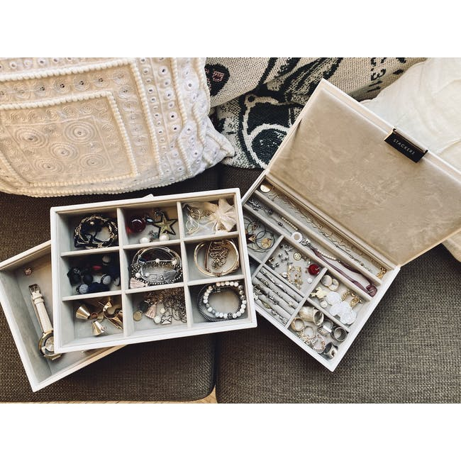 Stackers 3-in-1 Classic Jewellery Box - Taupe - 3