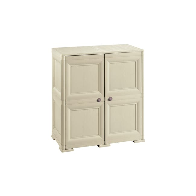 Omnimodus 8 Shelves Shoe Cabinet - Beige - 0
