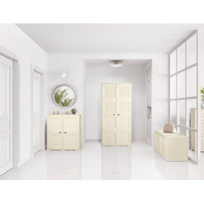 Omnimodus 8 Shelves Shoe Cabinet - Beige - 2