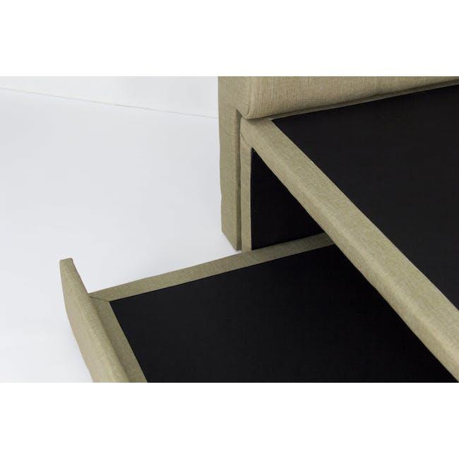 ESSENTIALS Super Single Trundle Bed - Khaki (Fabric) - 9