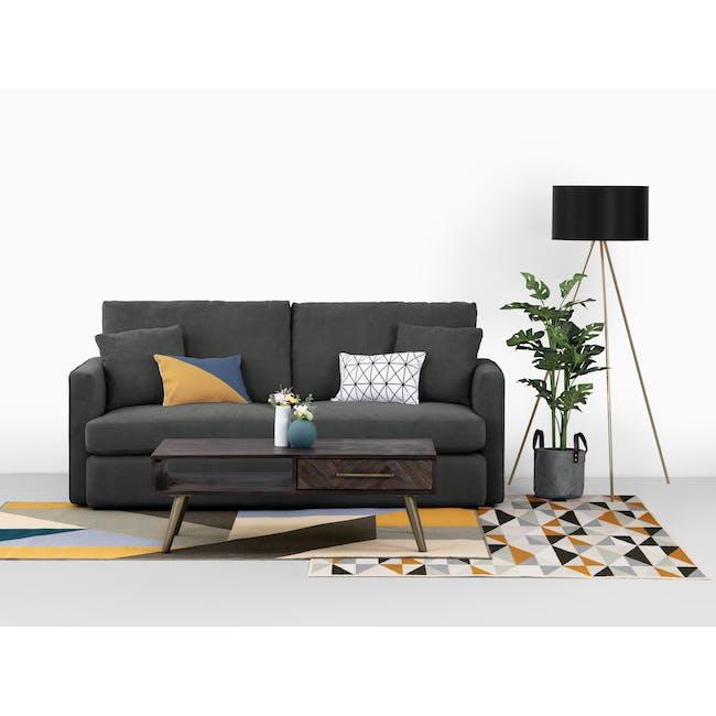 Ashley 3 Seater Sofa in Granite with Kiwami in Battleship Grey - 7