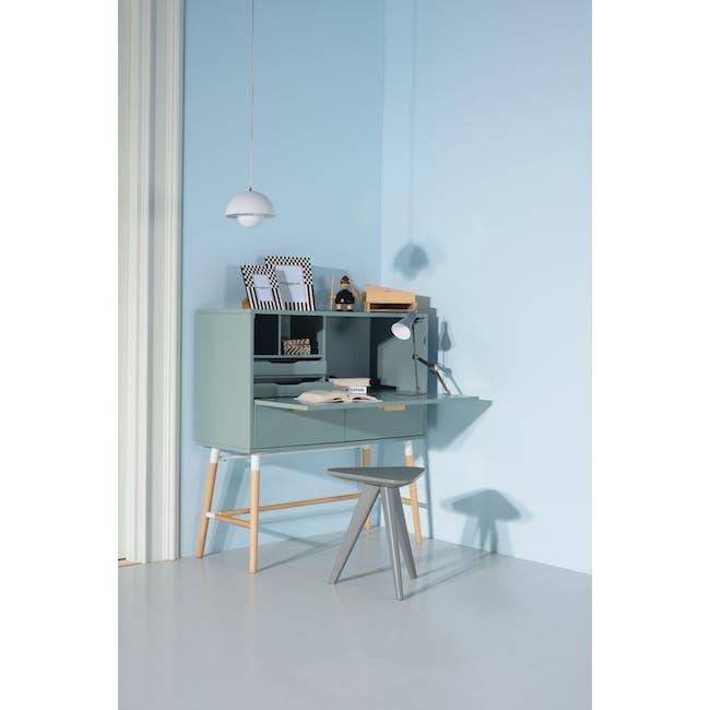 Arod Study Table - White Grey - 10