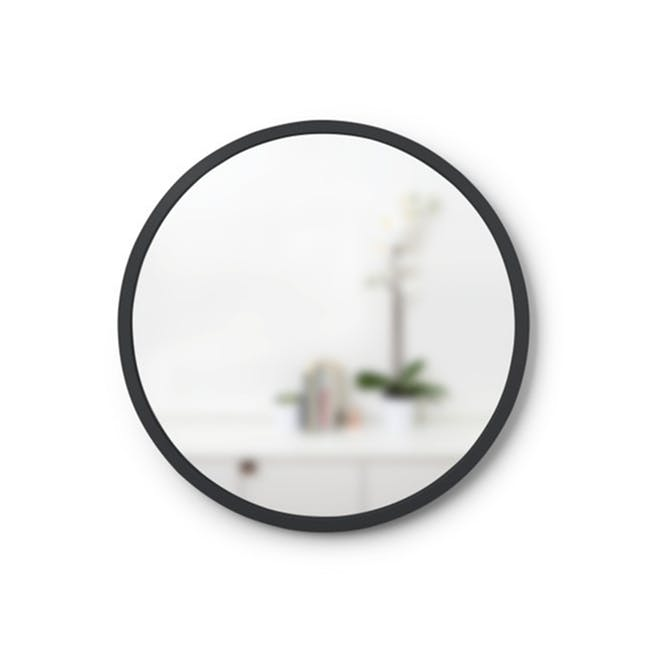 Hub Round Mirror 45 cm - Black - 0