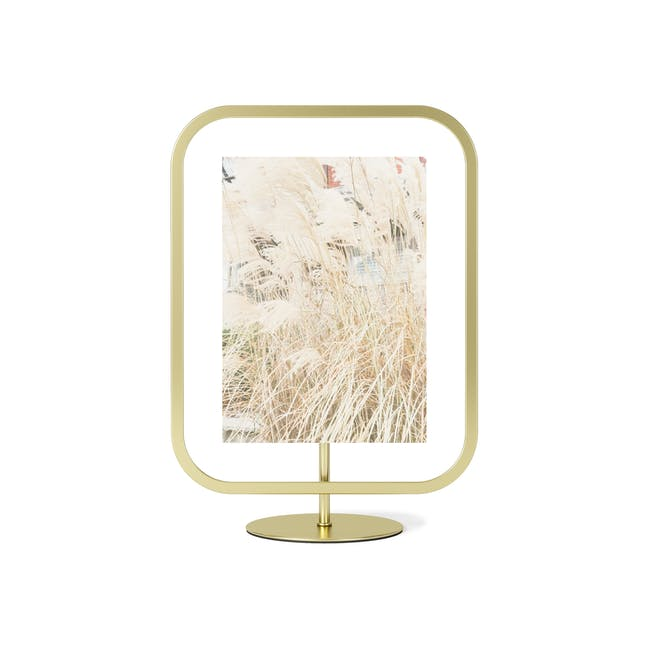 Infinity Rectangle Photo Display - Large - Brass - 0