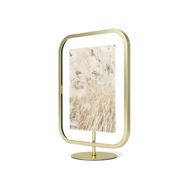 Infinity Rectangle Photo Display - Large - Brass - 1