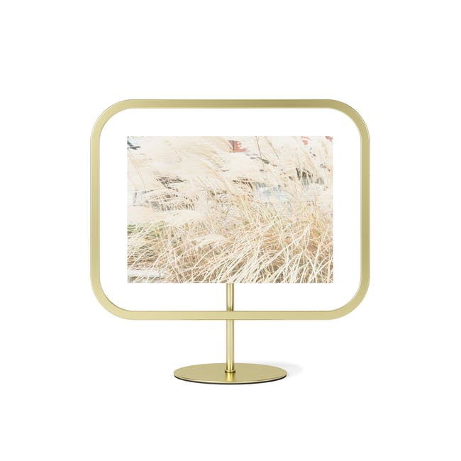 Infinity Rectangle Photo Display - Large - Brass - 2