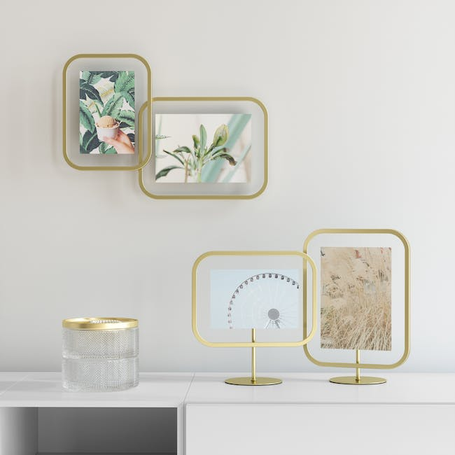 Infinity Rectangle Photo Display - Large - Brass - 9